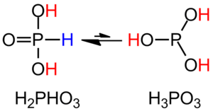 Phosphorous acid - Image: Tautomerism of H3PO3
