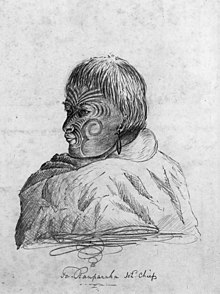 Te Rauparaha, N.Z. chief, photographic print of wash drawing by Charles Heaphy, 1839.jpg