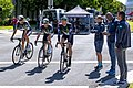 Team Dimension Data riders before the start of Stage 1 in Sacramento (34154732284).jpg