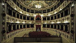Teatro Giuseppe Verdi opera house in Busseto, Italy