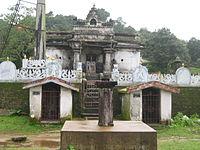 Temple of kalabhairava, skyline from Devaramane, Guthi village, July 5, 2011.jpg
