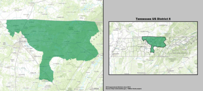Tennessee's 6th congressional district - since January 3, 2013.