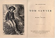 The Adventures of Tom Sawyer. Mark Twain. 1876.jpg