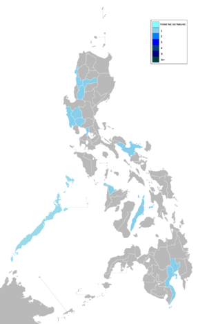 The Amazing Race Philippines - Provinces visited by The Amazing Race Philippines.