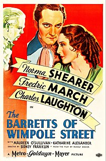 <i>The Barretts of Wimpole Street</i> (1934 film) 1934 American film directed by Sidney Franklin