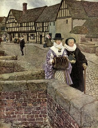 "Thomas Ford (composer) - ""I did but see her passing by, And yet I love her till I die"". Illustration by Eleanor Fortescue-Brickdale"