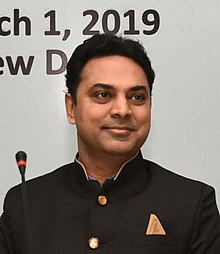 The Chief Economic Advisor, Dr. Krishnamurthy Subramanian at the National Conference on 'Economics of Competition Law', organised by the Competition Commission of India, in New Delhi on March 01, 2019. (cropped).JPG