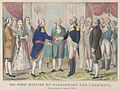 The First Meeting of Washington and Lafayette—Philadelphia, August 3rd, 1777 MET DP853568.jpg