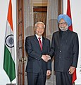 The General Secretary of the Communist Party of the Socialist Republic of Vietnam, Mr. Nguyen Phu Trong meeting the Prime Minister, Dr. Manmohan Singh, in New Delhi on November 20, 2013.jpg