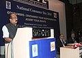 The Minister of State for Agriculture, Consumer Affairs, Food & Public Distribution, Prof. K.V. Thomas addressing at the National Consumer Day function, in New Delhi on December 23, 2010.jpg