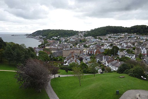 The Mumbles from Oystermouth Castle