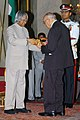 The President, Dr. A.P.J. Abdul Kalam presenting Padma Vibhushan to Justice Prafulla Chandra Bhagwati, at an Investiture-II Ceremony at Rashtrapati Bhavan in New Delhi on April 05, 2007.jpg