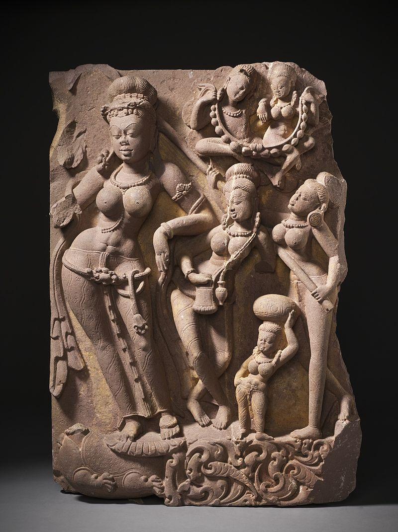 The River Goddess Yamuna and Attendants LACMA M.79.9.10.2a-b (4 of 12).jpg