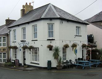 Under Milk Wood - The Sailor's Home Arms, New Quay, now known as the Seahorse Inn, which provided the name for the Sailors Arms.