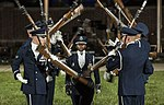 The U.S. Air Force Honor Guard Drill Team performs a rifle demonstration during the 2016 Air Force Tattoo (32084528612).jpg