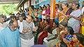The Union Home Minister, Shri Rajnath Singh visiting a flood relief camp, at Ernakulam, Kerala.JPG