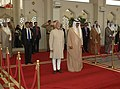The Vice President, Shri Mohd. Hamid Ansari receiving the Guard of Honour, on his arrival at Kuwait on April 06, 2009.jpg