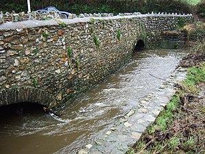 River Culm - Image: The bridge at Gladhayes