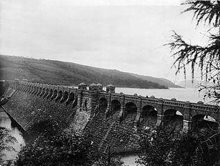 The dam, Llanwddyn