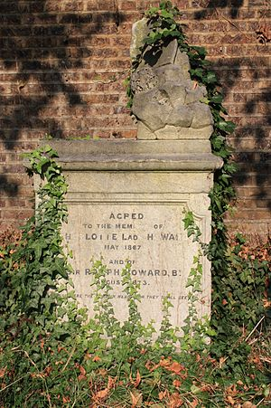 Howard baronets - The grave of Ralph Howard, Brompton Cemetery 1873