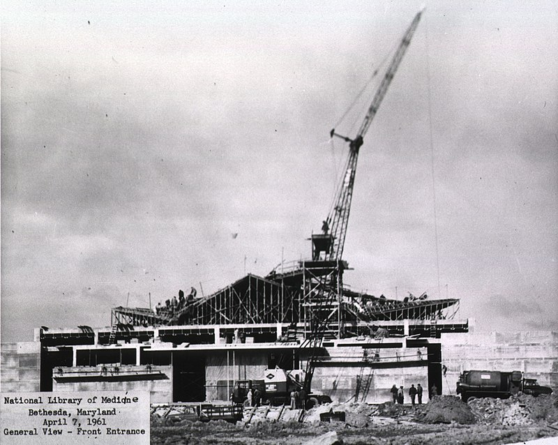 The new National Library of Medicine building under construction, ca. 1960..JPG