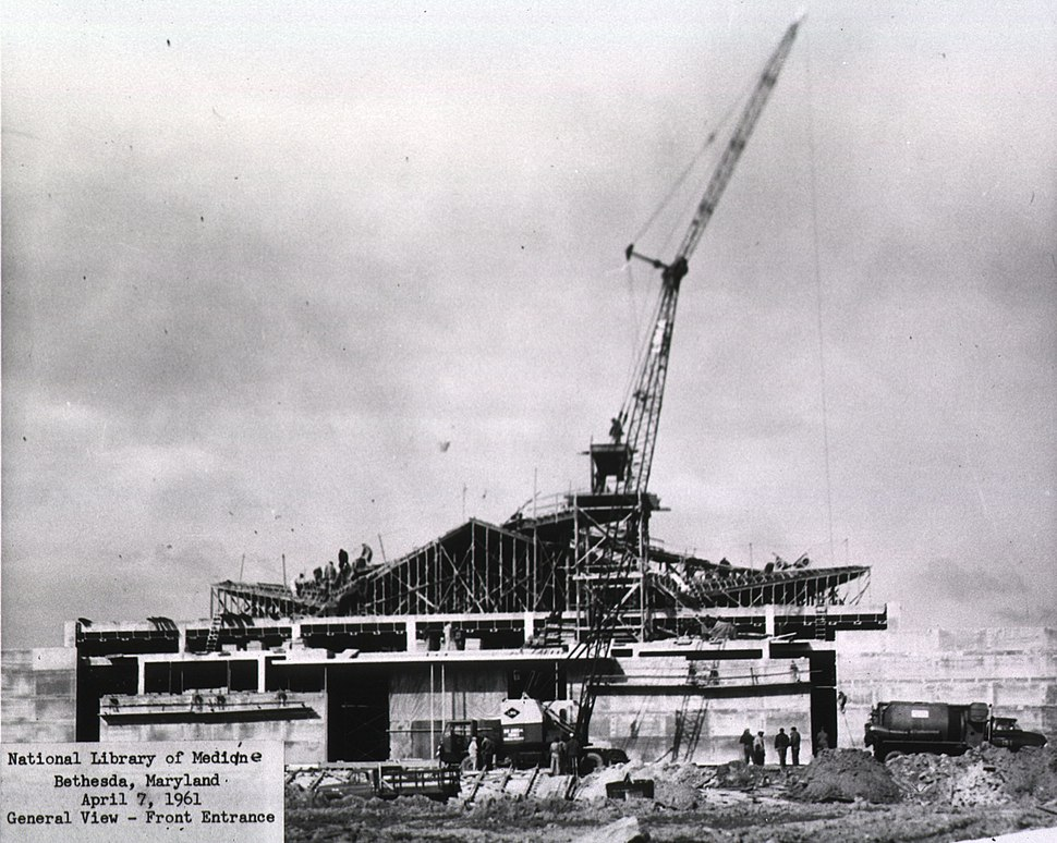 The new National Library of Medicine building under construction, ca. 1960.