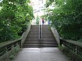 The steps at the end of Kingsgate Footbridge, Durham - geograph.org.uk - 1004750.jpg