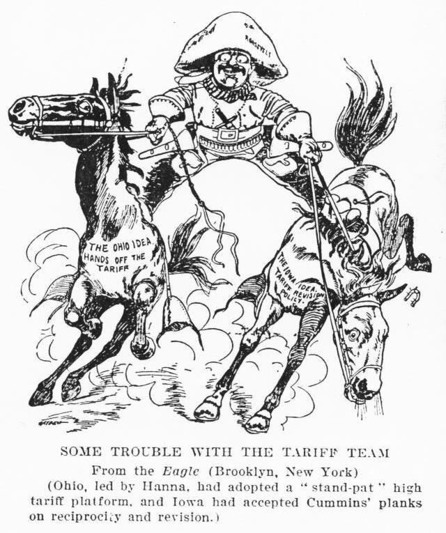 Theodore Roosevelt cartoon Iowa-ohio