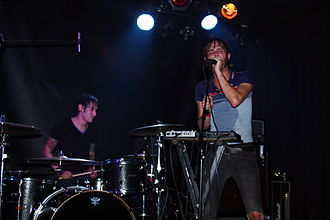 These Arms Are Snakes - These Arms Are Snakes performing live in Barcelona. Visible are vocalist Steve Snere and drummer Chris Common.