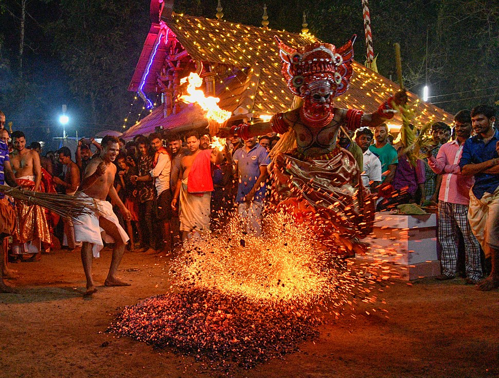 Theyyam entering into fire