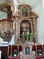 Thierbach, Kath. Pfarrkirche hl. Michael, rechter Seitenaltar.JPG