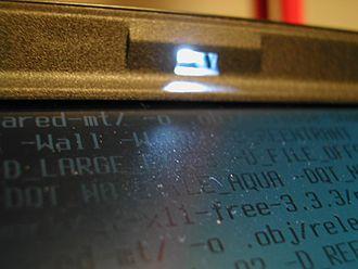 IBM ThinkPad ThinkLight - Closeup of the light