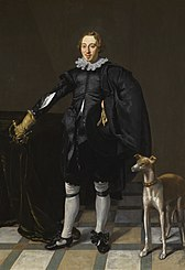 Portrait of a Man with a Greyhound