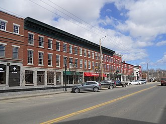 Thomaston, Maine - A view of downtown Thomaston, Maine as seen in March 2013.