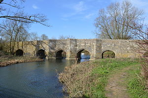 Thornborough Bridge - View from the south