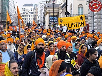 Sikh diaspora - Sikhs in London protest against Indian government actions