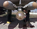 Three AGM-65 Maverick Missiles on an A-10 Thunderbolt.JPEG