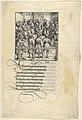 Three Captains Brought Up for Judgment, from -Theuerdank- Die geuerlicheiten vnd einsteils der geschichten des loblichen streytparen vnd hochberümbten helds vnd Ritters herr Tewrdannckhs MET DP834037.jpg