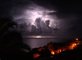 Weather - Thunderstorm near Garajau, Madeira