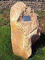 Thurstaston roundabout - commemorative plaque - DSC06349.JPG