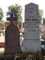 Thury Mihály plébános †1878 védett síremléke, 2019 Kapuvár.jpg