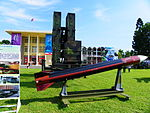 Tien Kung Ⅲ Missile Model with Launcher Trailer Display at Military Academy Ground 20140531a.jpg