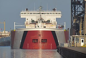 MV Edwin H. Gott - Image: Tight fit for the Gott (7131705677)