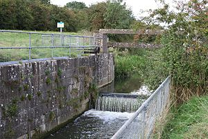 River Bain - Tilting Gate Weir near Thornton