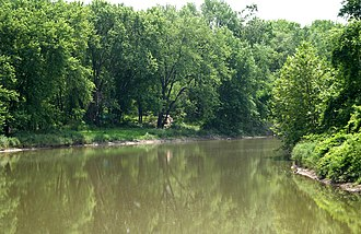 Tioga River (Chemung River tributary) - The Tioga River near the Pennsylvania–New York state line