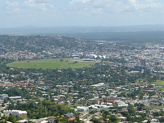 Queen's Park Savannah - View on QPS from Fort George Hill