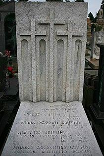 Tomba architetto Enrico Agostino Griffini (1887-1952) Monumentale di Milano.jpg