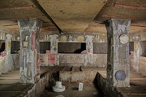 Etruscan architecture - Tomb of the Reliefs at Banditaccia necropolis