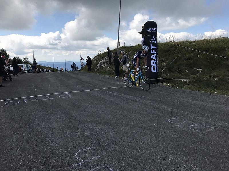 Tour de l'Ain 2017 - étape 4 - passage du gpm Col du Grand Colombier.