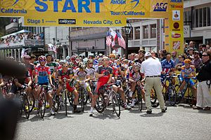 The start of the first leg of the 2010 race in Nevada City.